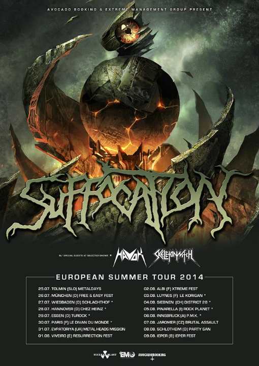 suffocation tour